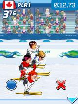 Vancouver 2010: Official Mobile Game of the Olympic Winter Games J2ME Press the wrong button and the speed decreases