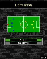 Actua Soccer 2006: International Edition J2ME Formation selected