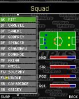 Actua Soccer 2006: International Edition J2ME The England squad - now, where I have I seen these names before?