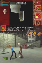 Buffy the Vampire Slayer: Sacrifice Nintendo DS Ingame - hitting a vampire