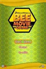 Bee Movie Game Nintendo DS Title screen with main menu.