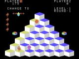Q*bert ColecoVision A game in progress