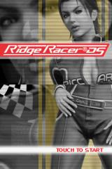 Ridge Racer DS Nintendo DS Title screen.