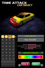 Ridge Racer DS Nintendo DS Vehicle selection.
