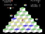 Q*bert ColecoVision In this level you need to hop on the tiles twice to reach the target color