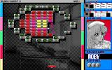 Block Quest V PC-98 The green blocks here take several hits to destroy.