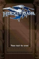 Heroes of Mana Nintendo DS Title screen.