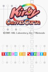 Kirby: Canvas Curse Nintendo DS Title screen.