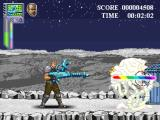 Super Adventures of Matt in Hazard Land: Extreme Alpha Advance Browser Zapping enemies with the laser rifle.