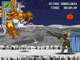 Super Adventures of Matt in Hazard Land: Extreme Alpha Advance Browser Matt fighting the first boss: Space Bucephalus
