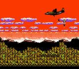 Metal Gear NES Intro: Solid Snake parachutes