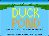 Duck Pond Browser Atari 2600 title screen, slightly different from the demo version, as this has instructions