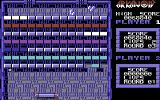 Arkanoid Commodore 64 On the third level with the large paddle