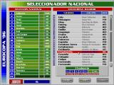 PC Selección Española de Fútbol Eurocopa '96 DOS Selecting players for the Spanish National Team