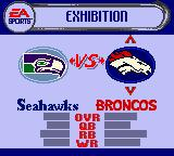 Madden NFL 2002 Game Boy Color Team selection.