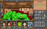 Might and Magic: Clouds of Xeen DOS Indoor battle: Ridding the city of Vertigo of slimes and Breeders.