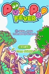 Puyo Pop Fever Nintendo DS Title screen.