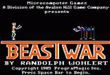 Beast War Apple II Title