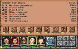 Might and Magic: Clouds of Xeen DOS In between battles: Checking out loot in your inventory.