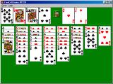 Microsoft Windows XP (included games) Windows FreeCell game in progress.
