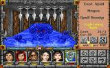 Might and Magic: Clouds of Xeen DOS Wet battle: The Cave of Illusion is flooded.