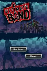 Ultimate Band Nintendo DS Title screen with main menu.