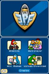 Club Penguin: Elite Penguin Force Nintendo DS Main menu (part 2)...