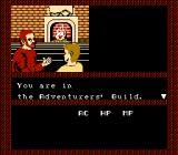 Tales of the Unknown: Volume I - The Bard's Tale NES Starting the game in adventurer's guild