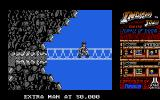 Indiana Jones and the Temple of Doom Atari ST Level 4 - Indy has all three stones, and can now escape the Temple of Doom over a rope bridge.