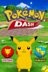 Pokémon Dash Nintendo DS Title screen with main menu.