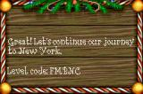 Elf: The Movie Game Boy Advance Cleared the level. Here is my level code.