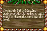 Elf: The Movie Game Boy Advance Watch out for the falling icicles.