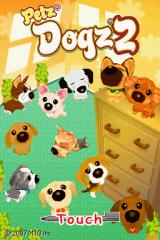 Dogz 2 Nintendo DS Title screen.
