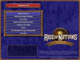 Rise of Nations: Thrones & Patriots Windows Main Menu