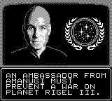 Star Trek: The Next Generation Game Boy Picard gives you a mission