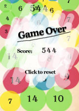 Count On Me Windows Game Over: the total score is shown