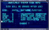 CyberPunks Amiga Main terminal screen