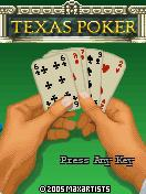 Texas Poker J2ME Title screen for the non-branded version of the game