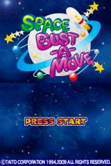 Space Bust-A-Move Nintendo DS Title screen.