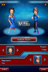 Iron Chef America: Supreme Cuisine Nintendo DS Player/Opponent selection (Quick Play Mode).
