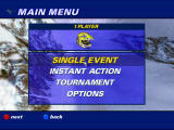 Polaris SnoCross Windows Main menu