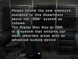 Dino Crisis PlayStation Reading an e-mail.