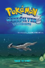 Pokémon SoulSilver Version Nintendo DS Title screen.