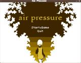 Air Pressure Linux Title screen and main menu. Not a lot of menu options.