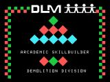 Demolition Division TI-99/4A Title screen