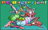 PC-Bakterien! DOS Title screen, featuring the microbe protagonist Mikky.