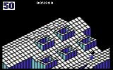 Marble Madness Commodore 64 The black marble tries to knock you off the path