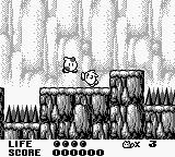 Trip World Game Boy You primarily attack enemies by kicking them.