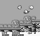 Trip World Game Boy Transform into a fish to swim.