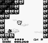 Trip World Game Boy Flying Yacopu discovers a power-up.